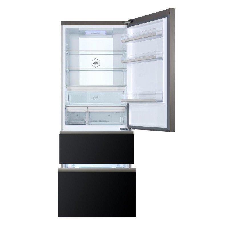 r frig rateur multi portes en verre noir haier cmc. Black Bedroom Furniture Sets. Home Design Ideas