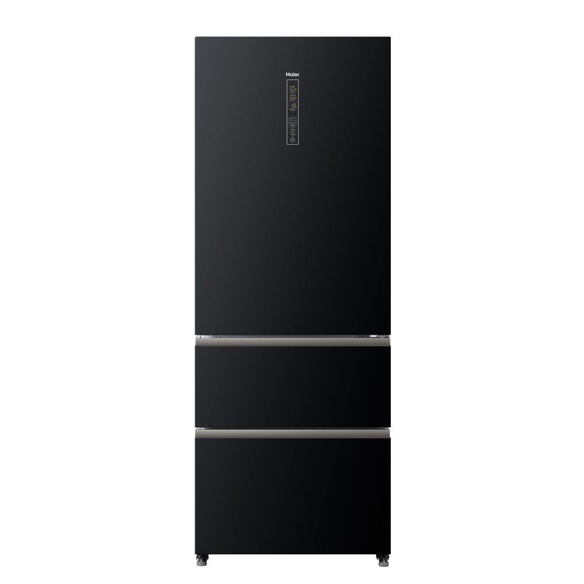 Réfrigérateur 70cms de large porte verre 2 tiroirs HAIER