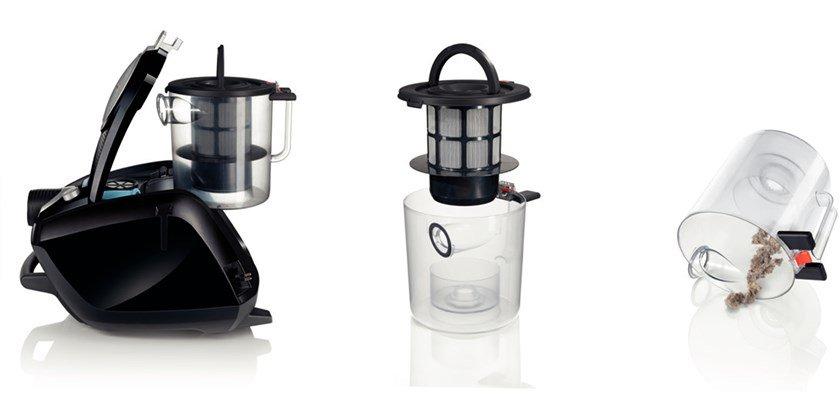 aspirateur silencieux 66db sans sac bosch cmc. Black Bedroom Furniture Sets. Home Design Ideas