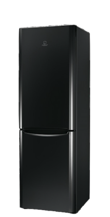 réfrigérateur congélateur en bas INDESIT Noir
