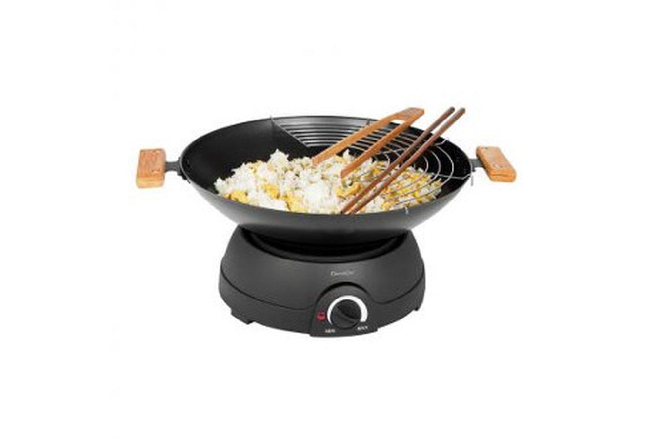 wok et fondue 2 en 1 lectrique domoclip cmc. Black Bedroom Furniture Sets. Home Design Ideas