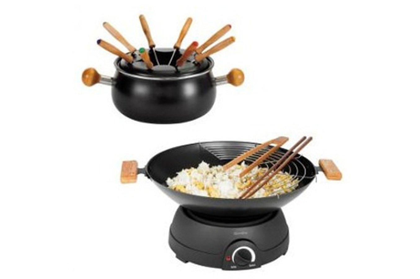 Wok et fondue 2 en 1 électrique Domoclip