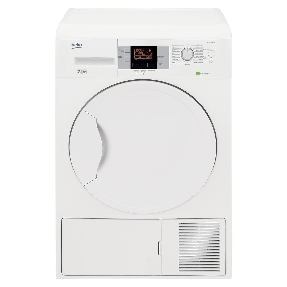 Sèche linge pompe à chaleur Beko 7KG A+